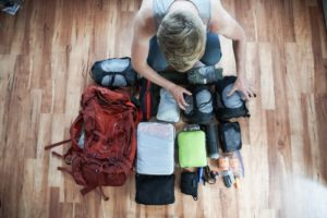 World Trip, Packing, His Backpack