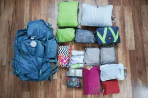 World Trip, Packing, Her Backpack