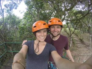 Couple, Zipline, Mindo, Ecuador