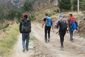 Hiking, Quilotoa Loop, Ecuador,