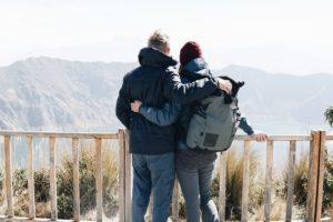 Couple, Viewpoint, Quilatoa Lake, Ecuador