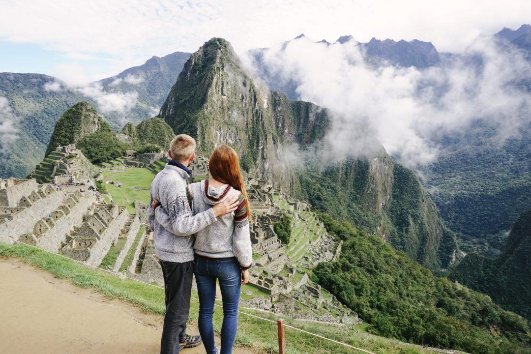Machu Picchu, couple, peru, travel