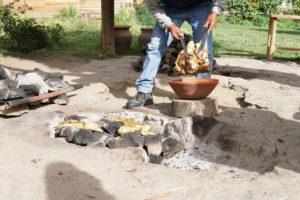 pachamanca lunch, Meat, Oven, BBQ, Ollantaytambo, Urubamba Valley, Peru